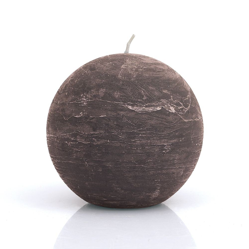 Ronde - Bougie ronde taupe  12cm