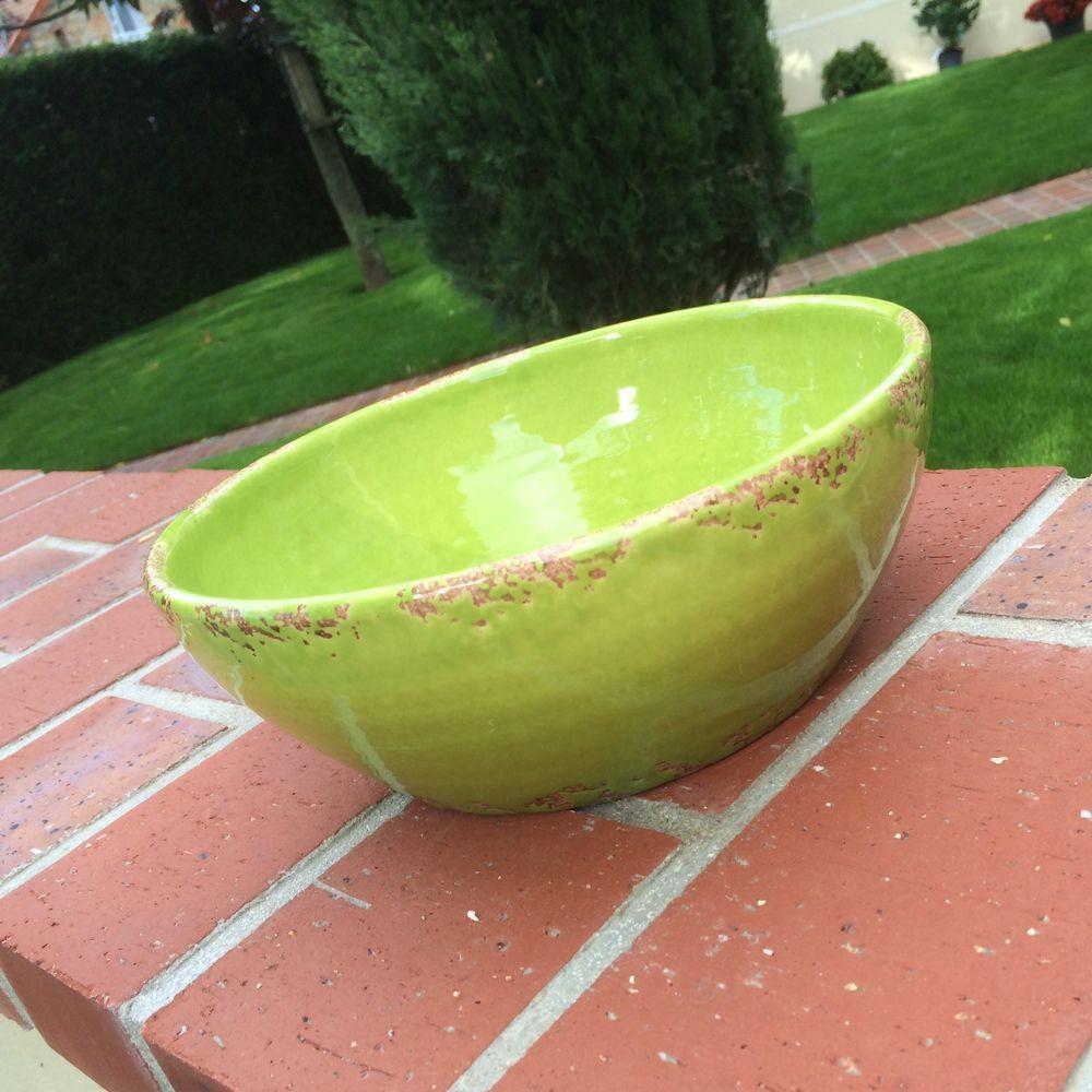 Coletta - Saladier 25 cm grès vert