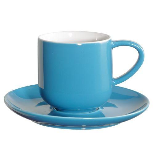 Coppa  - Tasse à expresso turquoise en porcelaine (par2)