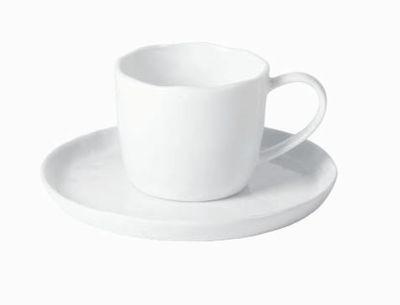 Crumple  - Tasse à thé porcelaine froissée  blanche (par6)