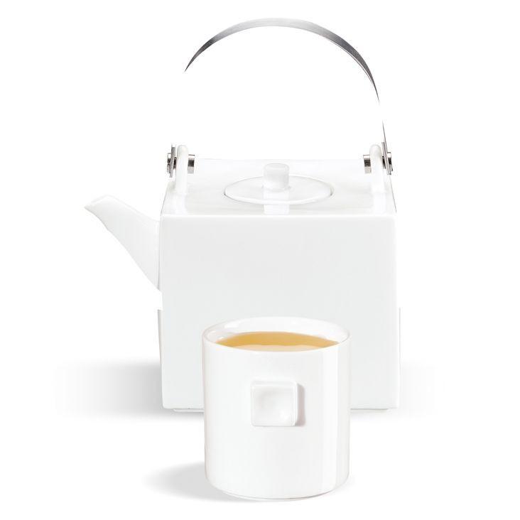 Géométrie  -  tasse à  thé  blanche  en  porcelaine (par6)