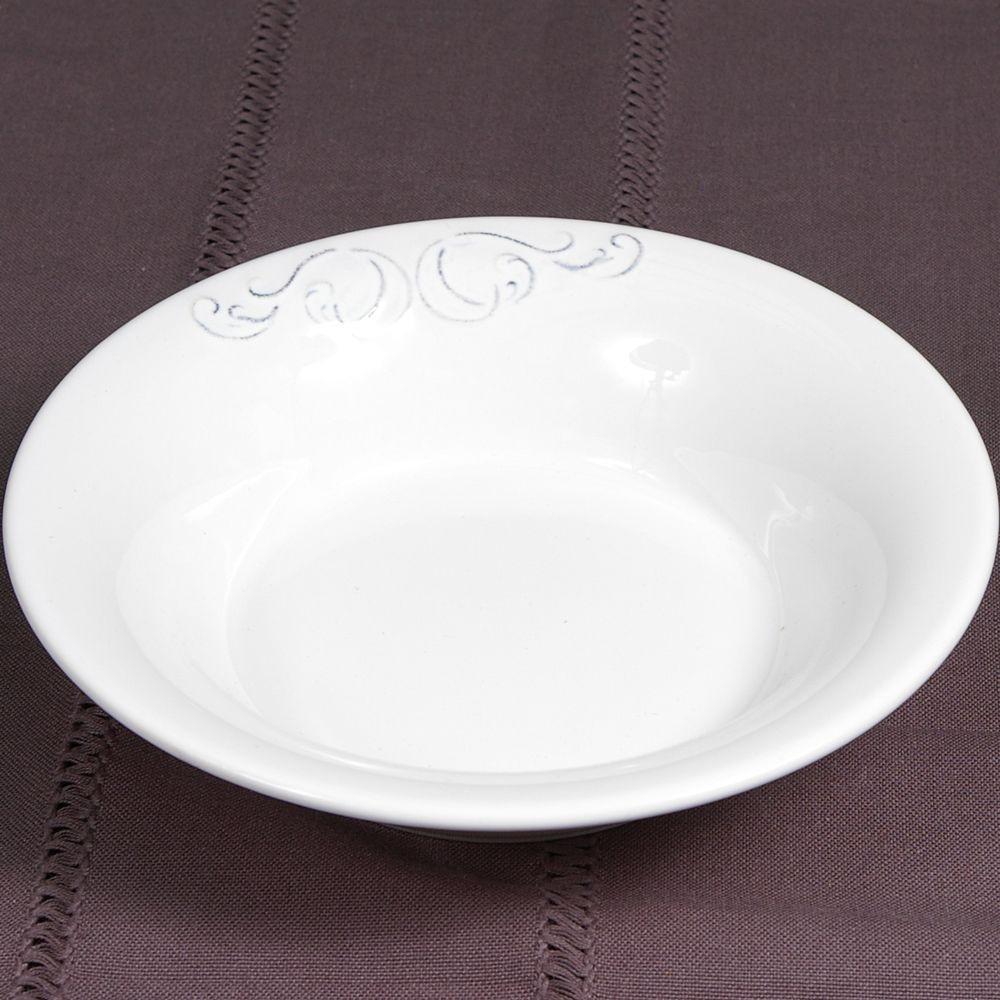 Marion - Assiette - Calotte blanche en faîence (par6)