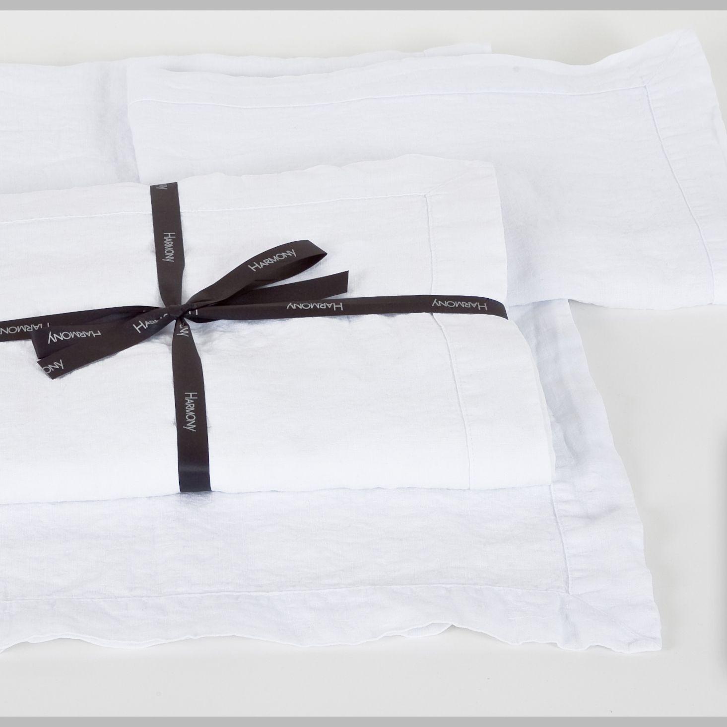 Naîs - Nappe 170x250 100%Lin stonewash blanc