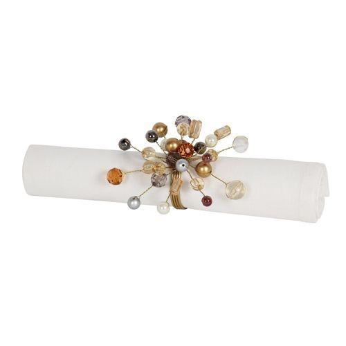 Andromede   - Rond de serviette en metal et perle (par2)