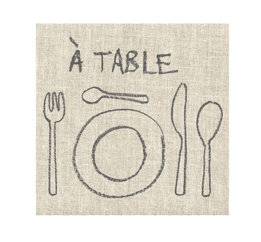 A table - Serviette papier(paquet de 20)