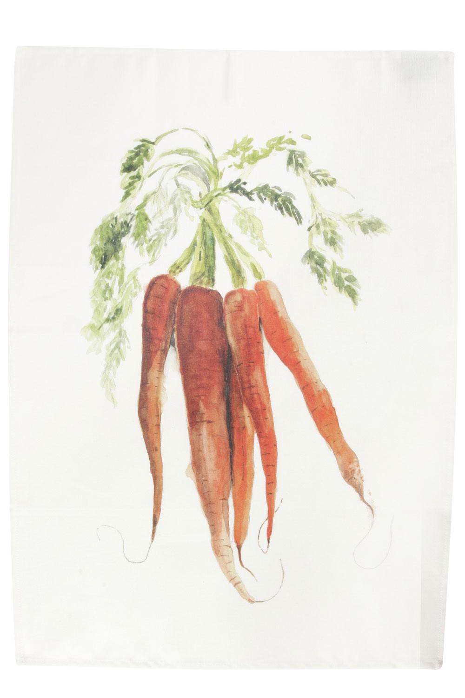 Saveurs -  Torchon Legume du jardin carottes  70x50cm