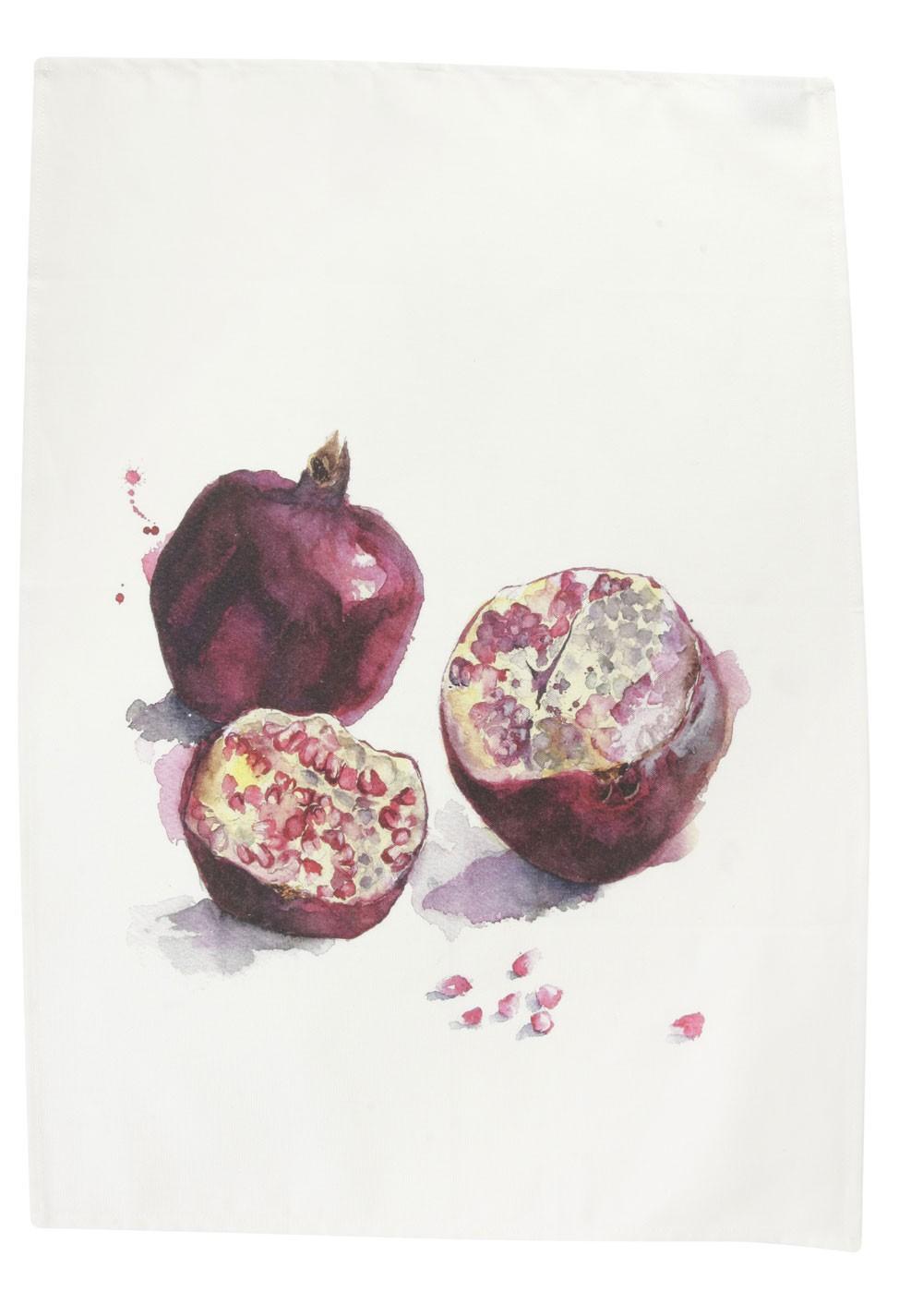 Saveurs -  Torchon Legume du jardin  fruit de la passion70x50cm