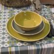 Sixties - Assiette plate  curcuma en céramique (par2)
