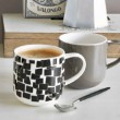 Colors it - Mug blanche et noire   40cl cm en porcelaine