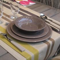 Constance - Assiette plate en faience poivre (par2)