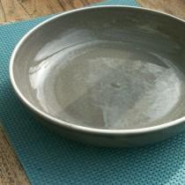 Sixties  -  Saladier  taupe    en  céramique