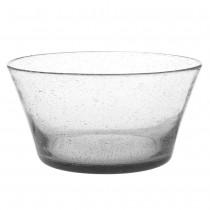 Artisan - Saladier verre bullé transparent