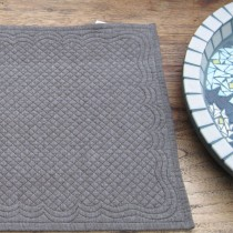 Boutis - Set de table boutis chambray brun   (par2)