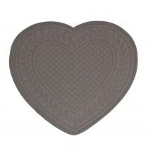 Cœur - Set de table boutis cœur gris ( par 2)