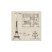 Ballade en ville- Serviettes papier (Paquet de 20) 16X16cm