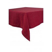 Naïs - Serviette de table en Lin stonewash rouge (par6)
