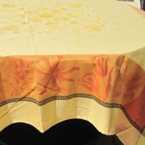 AngeLina - Nappe jacquard dessin place, Soleil, traitement déperlant,carrée