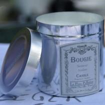Boite alu - Bougie rose ancienne
