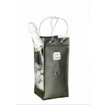 Ice bag - Seau à bouteille anthracite givré gris en pvc