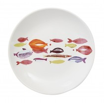 Poisson -Assiette plate ceramique banc de poissons (par4)