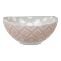 Kasuri - bol rose et gris 13x6cm en porcelaine (par2)