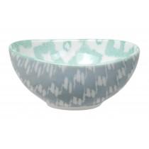 Kasuri - bol  vert et gris  10,5x5,5m en porcelaine (par2)