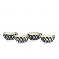 Vintage  - Bol  motif 3D noir et blanc ( par 4)