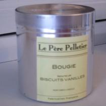 Tout Couleurs -Bougie Boite Alu   parfum biscuit vanille