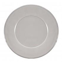 Constance - Assiette à dessert en faience gris perle (par6)