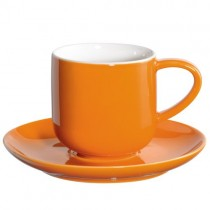 Coppa  - Tasse  à  expresso orange  en  porcelaine  (par2)