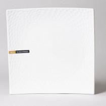 Dune - Assiette de présentation porcelaine blanche 30cm