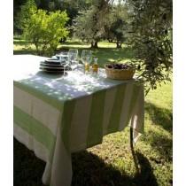 Firenze – Serviette en lin rayures vert (par6)