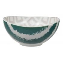 Kasuri - bol   bleu petrol et beige   10,5x5,5m en porcelaine (par2)