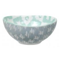 Kasuri - bol gris et vert 13x6cm en porcelaine (par2)