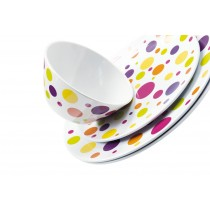 Dotty - Set de table reversible décor pois multicolors et uni 45x30cm (par6)