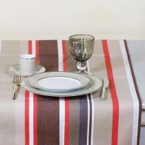Oloron - Chemin de table 50x150 100% Coton traitement anti taches