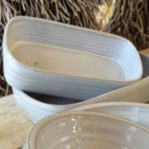 santon - Plat à four  gris en ceramique gris 27,5x17cm