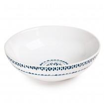 Hermosa  -  Saladier blanc et bleu en faience