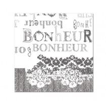 Bonheur - Serviettes papier (Paquet de 20) 16X16cm