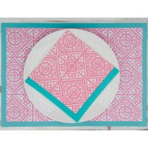 Tiles -Serviette papier 20cm rose (par20)