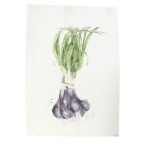 Saveurs -  Torchon Legume du jardin oignons 70x50cm
