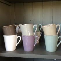 constance -Mug expresso en faience couleur vert d'eau (par 6)